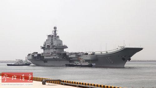 资料图片:辽宁舰出海开展科研试验和训练。