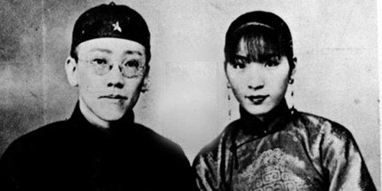 资料图:袁克文与妻子。