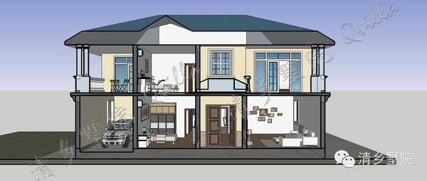 清墅农村自建房 欧式现代小康 3D直观