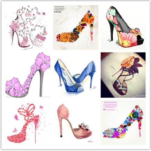 时尚 正文  唯美手绘高跟鞋,让你更加心动!