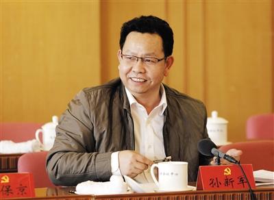 市政市容委主任孙新军。 材料图像/新京报记者 赵亢 摄