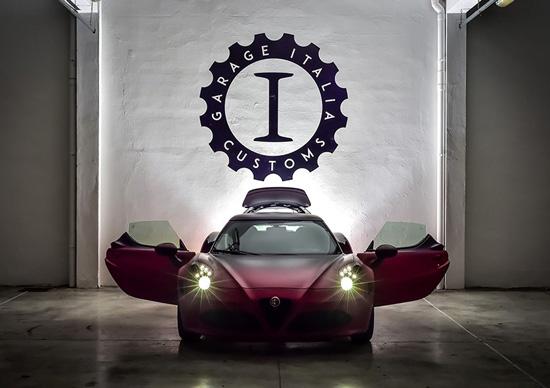 新款阿尔法・罗密欧 4C La Furiosa 的车顶为轻量的碳纤维材质精制而成