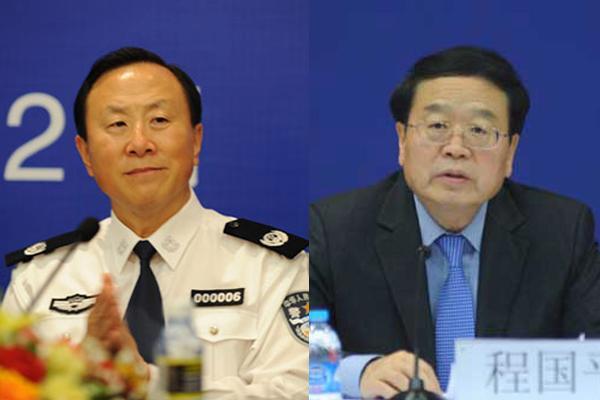 原任公安部副部长的张新枫(左)和原任外交部副部长的程国平(右)均已担任国家反恐安全专员职务。
