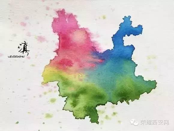中国 地图 手绘 熊猫