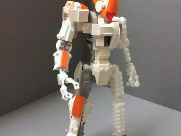 3d打印乐高积木机器人拼起来
