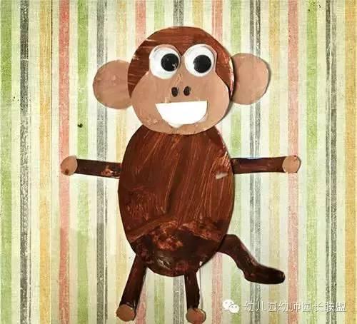【幼师】创意手工猴子的世界很精彩