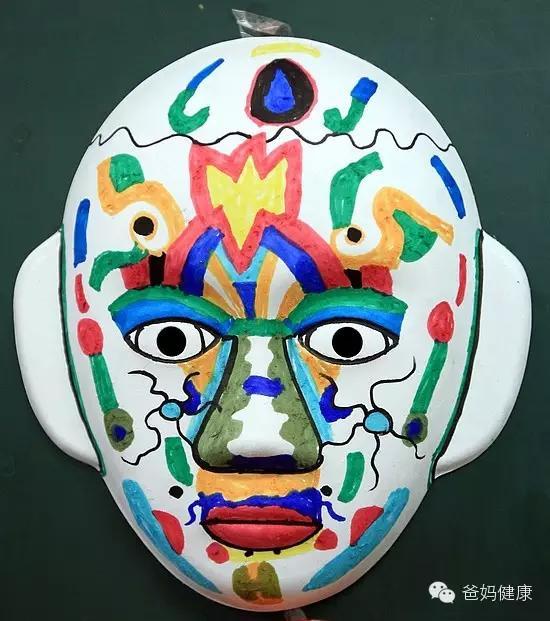 半截面具手绘图