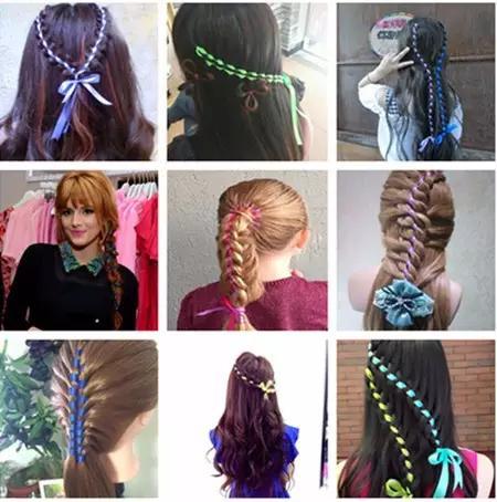 唯美编发之彩带辫,过新年换发型吧!图片