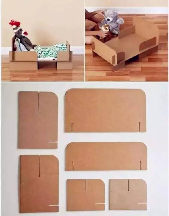 纸箱手工制作大全图解 书架