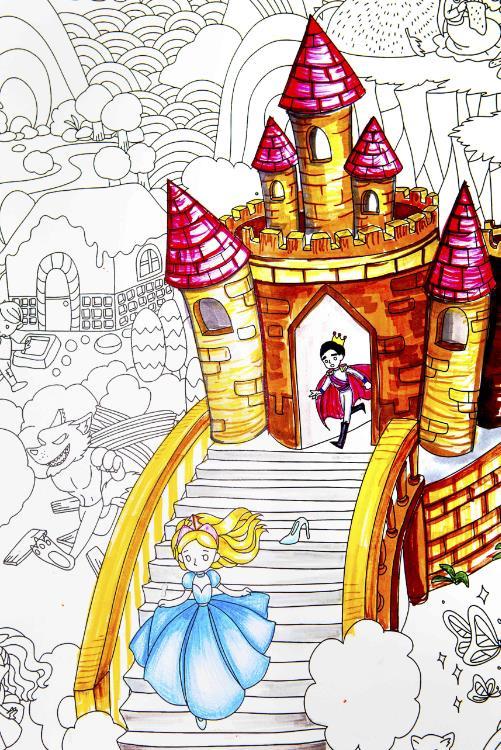 想色彩之 童话世界 涂色画