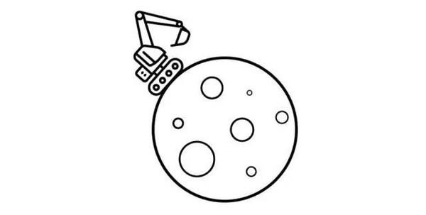 挖掘机简笔画-把挖掘机送上天 谷歌投资的这群疯子想挑战蓝翔图片