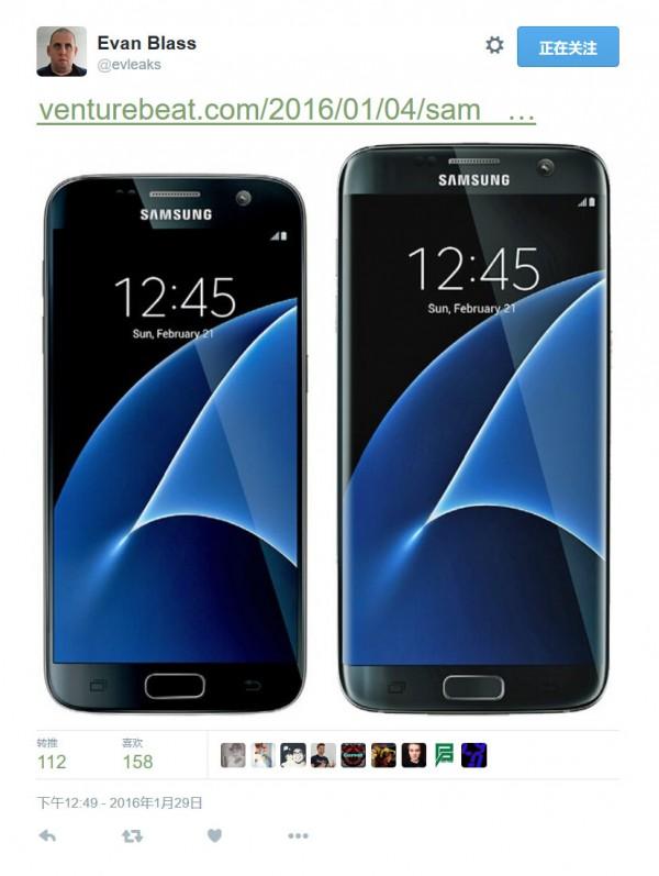 新功能让屏幕更省电 三星S7渲染图曝光