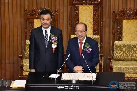 """苏嘉全中选""""立法院长"""""""