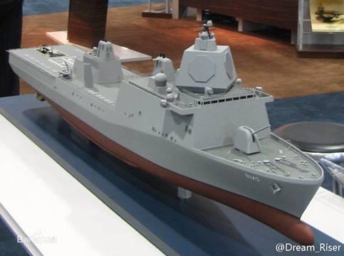 """材料图:""""圣安东尼奥""""级两栖船厂运送舰根底上开展的弹道导弹防备舰模子"""
