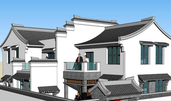 老家宅基地自建300平米中式别墅设计分享图片