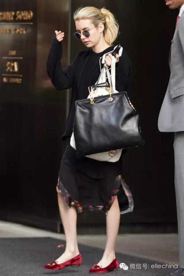 EmmaRoberts小个子女生穿平底鞋女生好初中比例_插抽图片