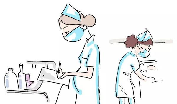 值班护士继续日常工作                    心专业的服务着.图片