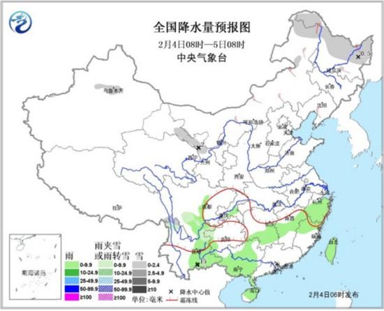 今日立春西南华南雨雪减弱 中东部气温回升