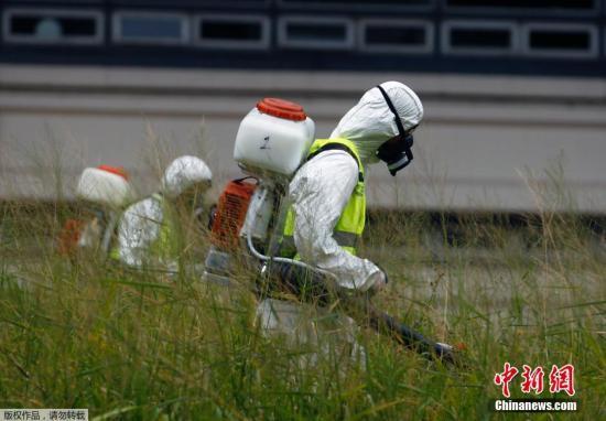 当地时间1月29日,阿根廷首都布宜诺斯艾利斯,工作人员进行烟熏灭蚊。阿根廷卫生部称,一名居住在布市的哥伦比亚妇女确认感染寨卡病毒,这是阿根廷出现的首例寨卡病毒感染者。 视频:美发现首例本土感染寨卡病毒患者 来源:央视新闻