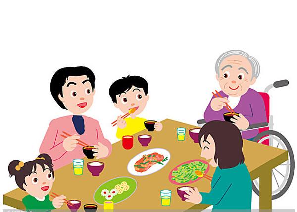 家人团圆卡通图片