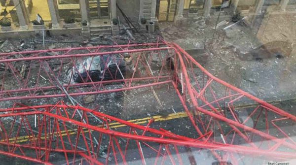 崇州塔吊倒塌_纽约曼哈顿发生巨型塔吊倒塌事故 已造成1人死亡-搜狐新闻