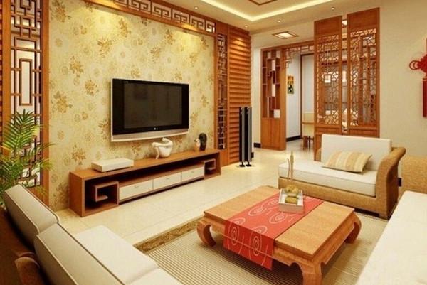 中式客厅电视背景墙装修效果图_搜狐时尚_搜狐网