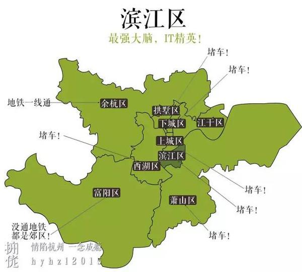 呐~其实吧~~杭州各大区还是挺团结的,作为多次更改划分行政区县的图片