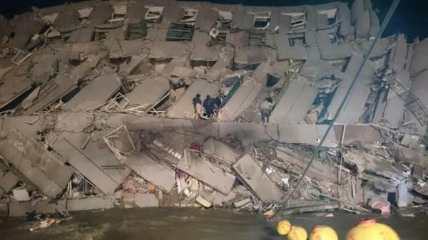 地震发生地区网友供图。 中时电子报 图
