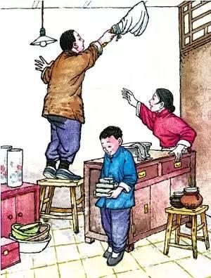 儿童年俗手绘画图片