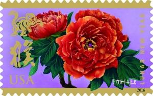 美国2016年中国农历猴年生肖纪念邮票首发式5日在纽约圣约翰大学举行,人们在现场排起了长龙购买邮票和首日封。