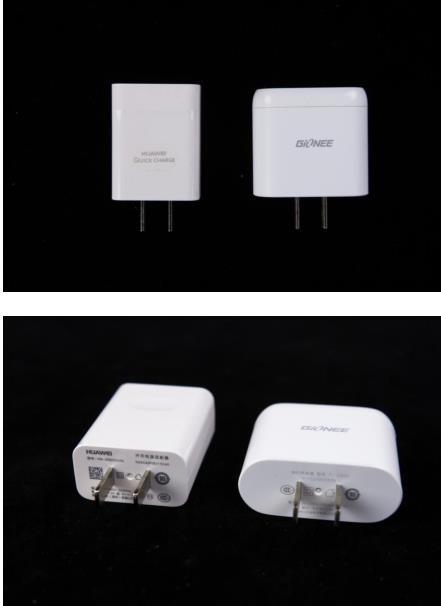 作为当之无愧的旗舰配置机型,金立M5Plus和华为Mate8都拥有快速充电功能。金立为M5Plus标配的充电头型号为TC-G300,支持5V/2A和9V/2A的输出规格,综合最高输出达到18W;华为为Mate8标配的充电头型号为HW-059200CHQ,同样支持5V/2A和9V/2A的输出,综合最高输出功率同样是18W,二者的充电头输出均是目前手机快充之中表现相当不错的。