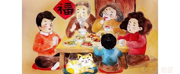 过年发团年饭照片给我一人送一桌免费火锅图片