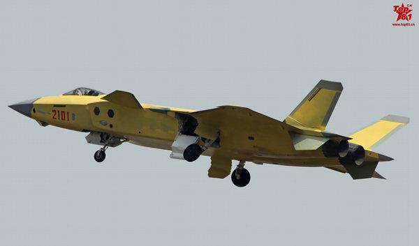 图为2101号歼20隆重首飞现场曝光。