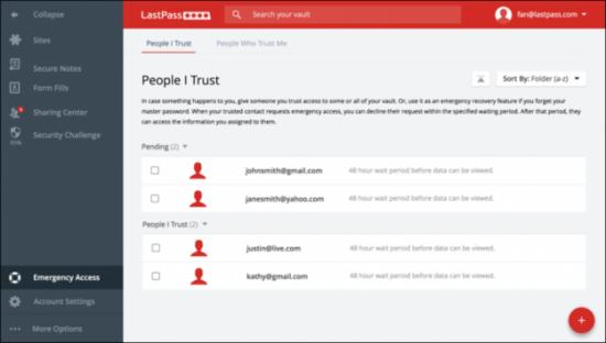 密码属于个人资产的重要组成部分,将密码与他人分享听起来是个很恐怖的想法。但很多时候,其他人有时的确需要访问你的账户,这就需要你的授权了。LastPass