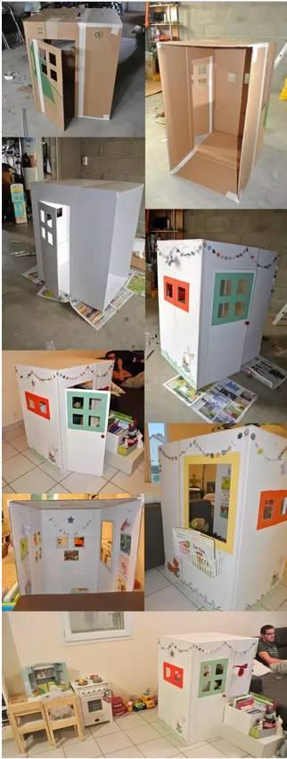 纸盒小房子手工制作图片