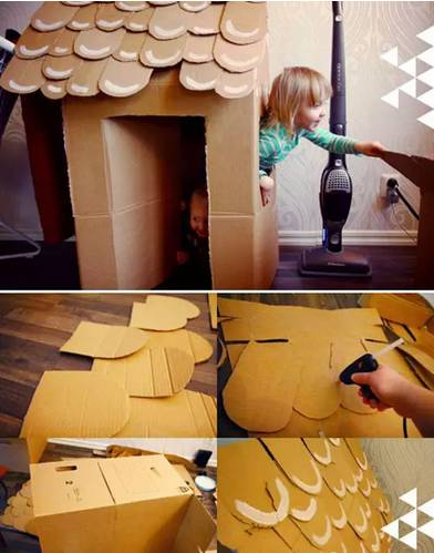 各种场景游戏,用纸箱制作各种小动物