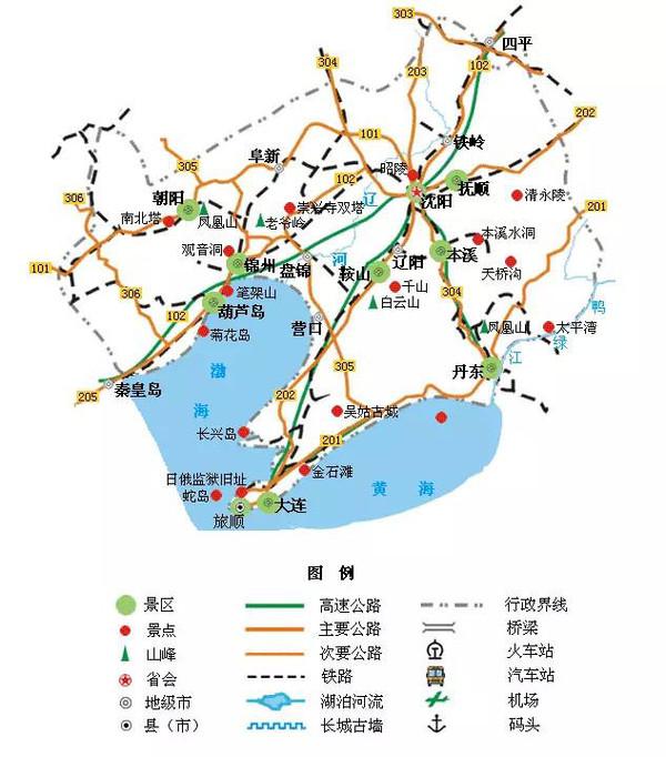 内蒙古旅游地图