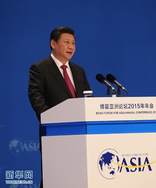 2015年3月28日,国家主席习近平在海南博鳌出席博鳌亚洲论坛2015年年会开幕式并发表主旨演讲。 新华社记者 兰红光 摄