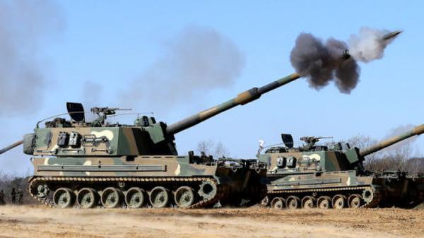 资料图:韩国K-9自行火炮