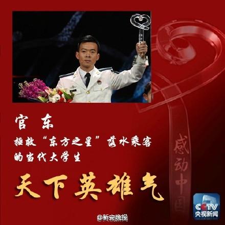 潜水员官东当选《感动中国》2015年度人物