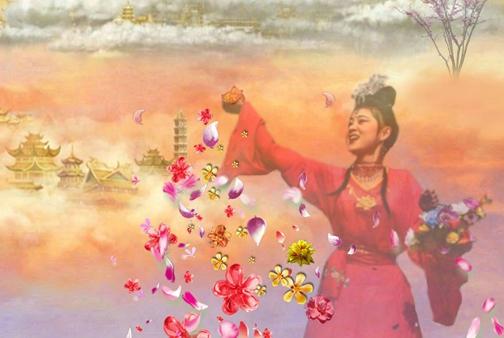 """国家官方神话传闻""""天女散花""""故乡被指在今湖南湘潭指方村盘龙大观园"""