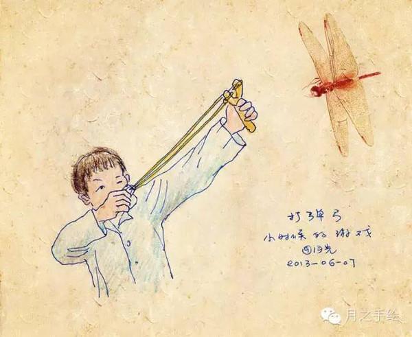 还记得那些童年的游戏吗,一个70后女画家手绘童年