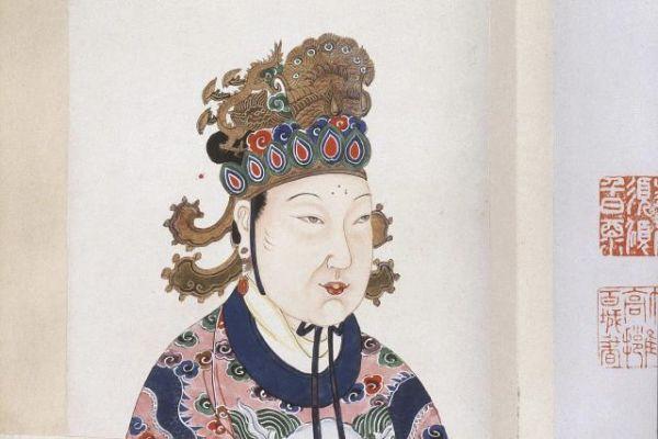 """图为""""历史第一女富豪""""武则天的画像(美国《金钱》杂志网站)"""