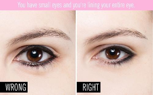 画眼线时不注意适合自己的眼线粗细,需避免画满整个上眼皮,才会让眼妆更自然<b