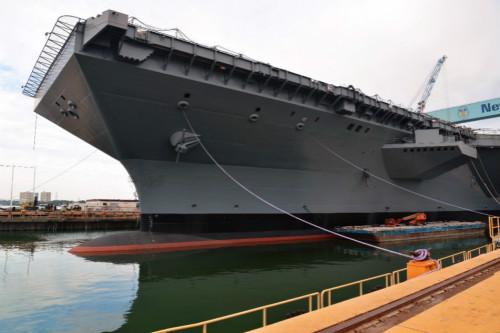 """原文配图:美国海军第一艘""""福特""""级核动力航母cvn78"""