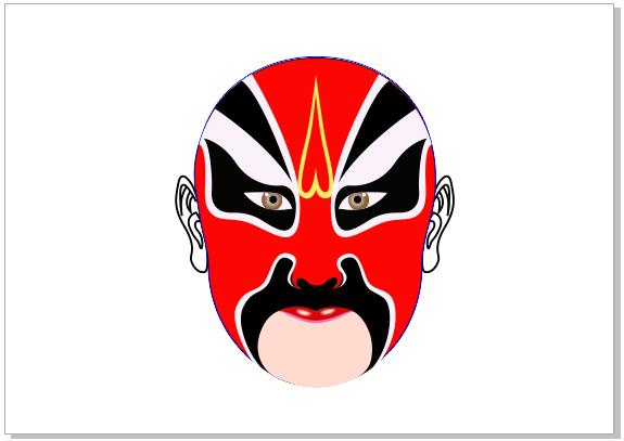 coreldrawx7画�_coreldraw x7绘制京剧脸谱