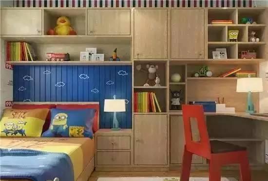 衣柜结构按照抽屉、底部平开门和上部平开门设计,内部结构更是丰富