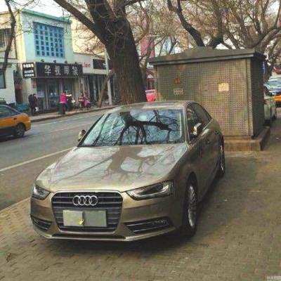 audi车-京华时报讯( )昨天早上,交管局涉车案件侦查专业队查获一辆违法停图片