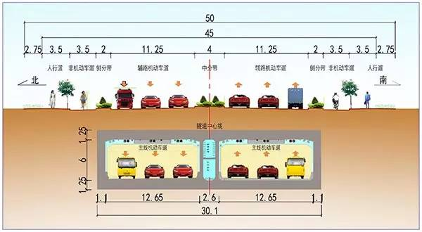 隧道标准横断面图