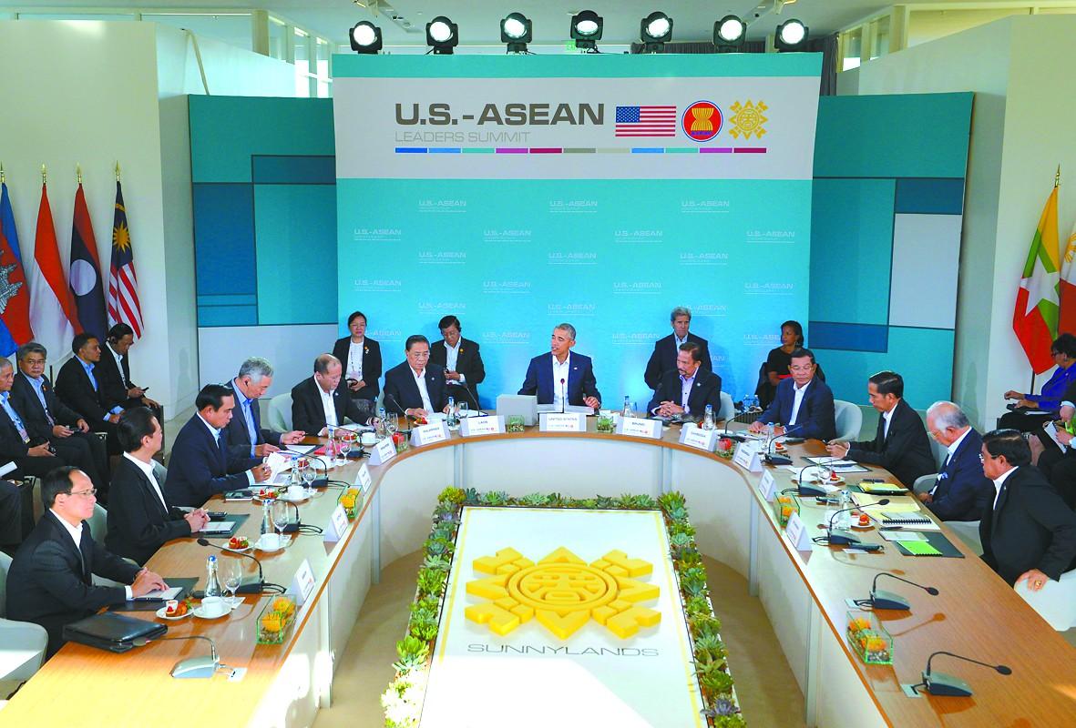 15日,美国与东盟领导人非正式会议在加州开幕。